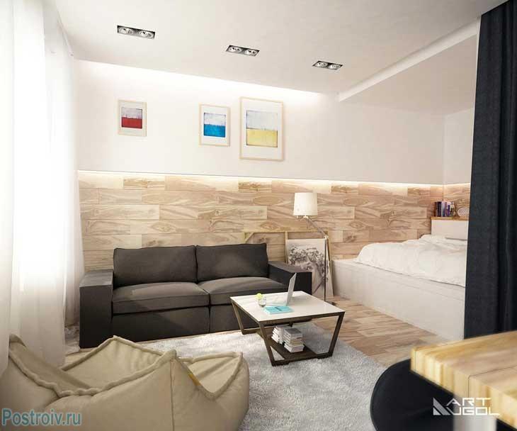 Интерьер комнаты с нишей7