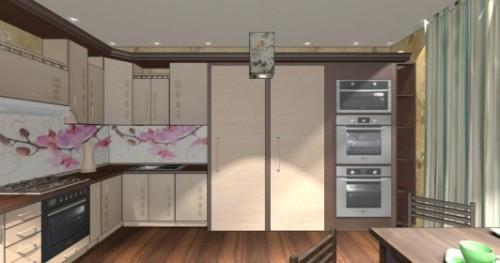 Интерьер кухни 12 кв м. кухня в японском стиле2