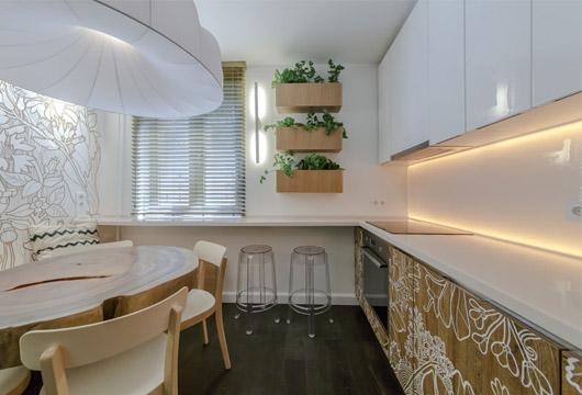 Интерьер кухни 12 кв м. кухня в японском стиле3