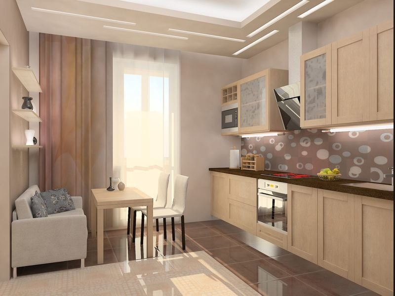 Интерьер кухни 12 кв м. кухня в японском стиле5