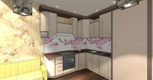 Интерьер кухни 12 кв м. кухня в японском стиле0