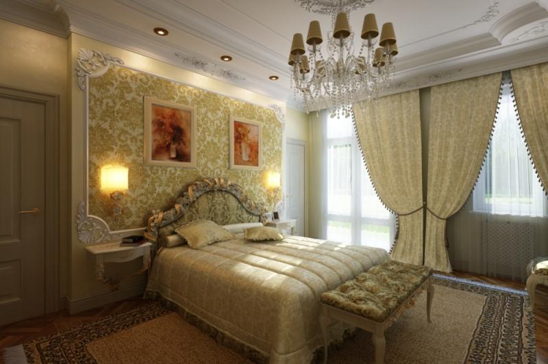 Интерьер спальни в классическом стиле: цвет, свет, дизайн (фото)0