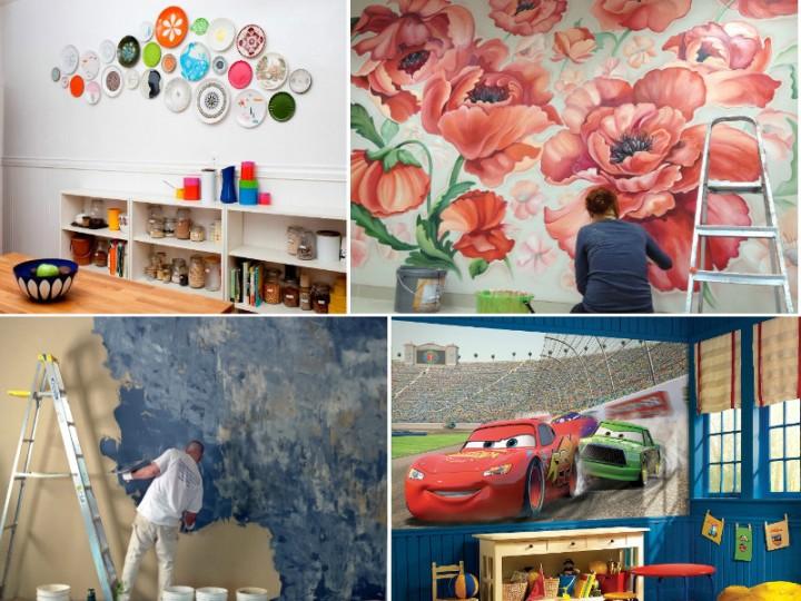 Интересные идеи декора стен своими руками: практические советы1