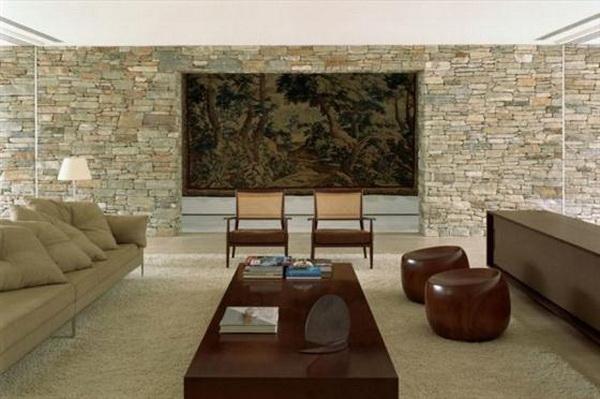 Искусственный и натуральный камень облицовочный в интерьере1
