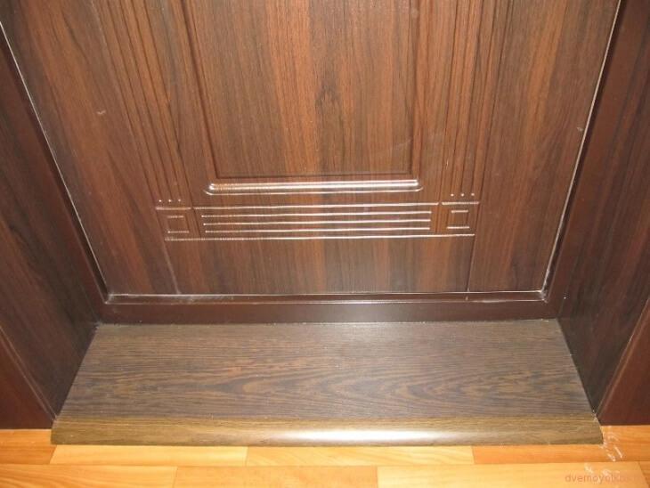 Использование ламината для откоса входных дверей3