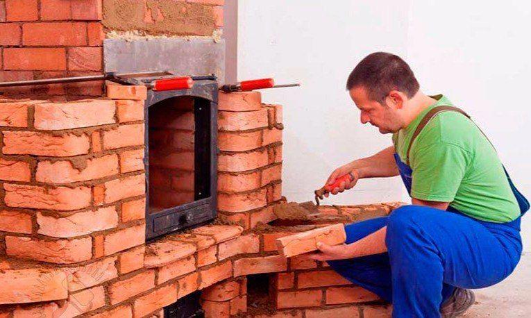 Использование огнеупорных смесей при устройстве печи3