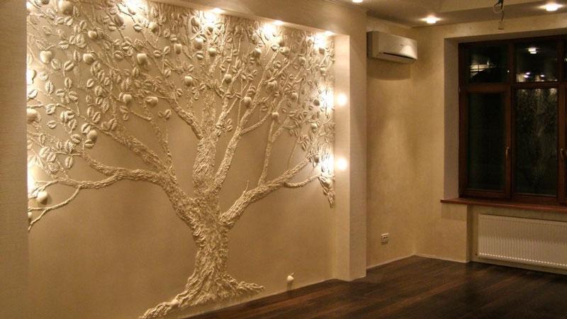 Изготовление лепнины на стену своими руками3