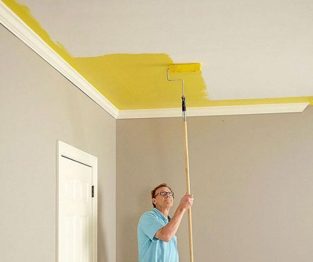 Качественная побелка потолка своими руками водоэмульсионной краской0