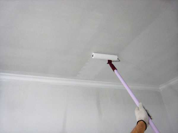 Качественная побелка потолка своими руками водоэмульсионной краской1