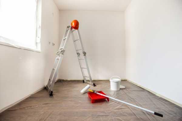 Качественная побелка потолка своими руками водоэмульсионной краской2