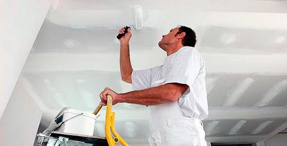 Качественная побелка потолка своими руками водоэмульсионной краской4