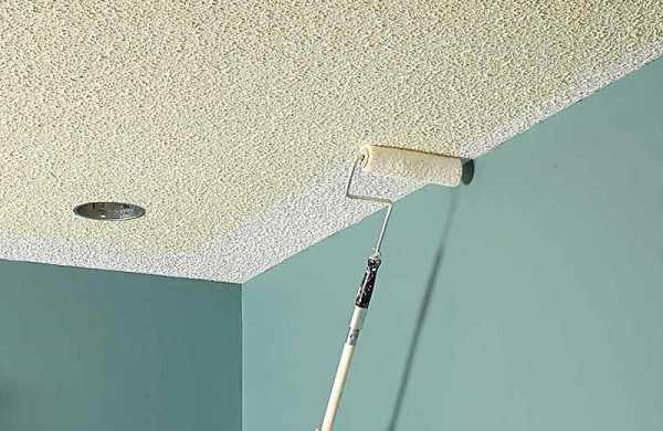 Качественная побелка потолка своими руками водоэмульсионной краской5