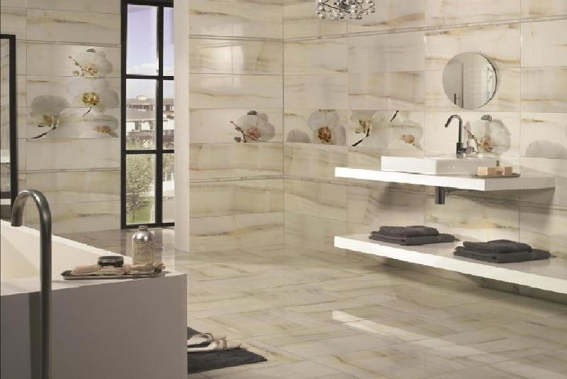 Кафель в интерьере ванной комнаты1