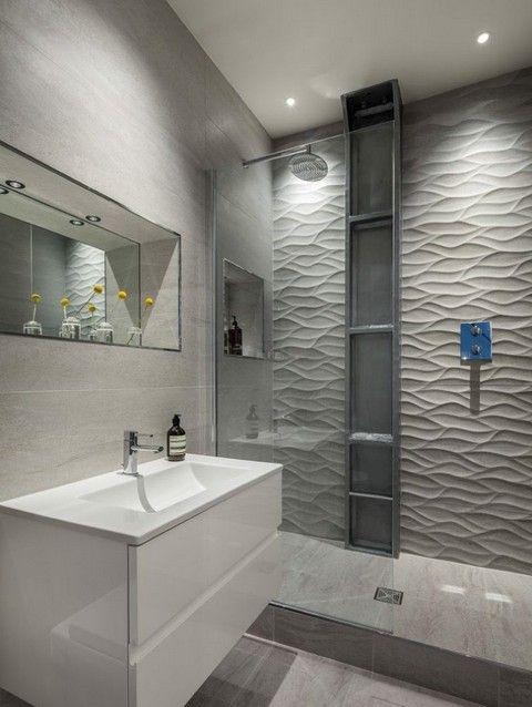 Кафель в интерьере ванной комнаты3
