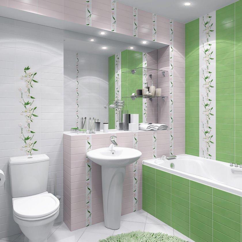 Кафель в интерьере ванной комнаты4