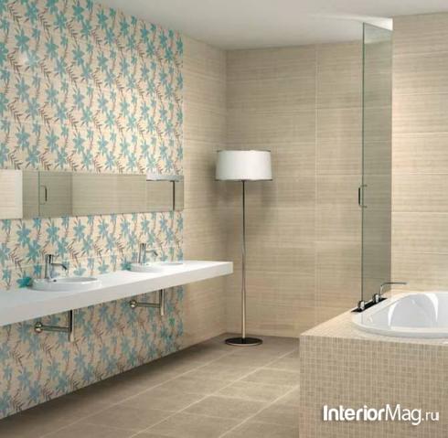 Кафель в интерьере ванной комнаты5