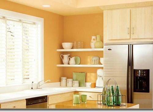 Как и каким цветом покрасить кухню0