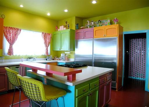 Как и каким цветом покрасить кухню2