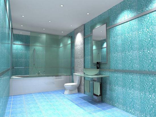 Как использовать в ванной комнате жидкие обои3