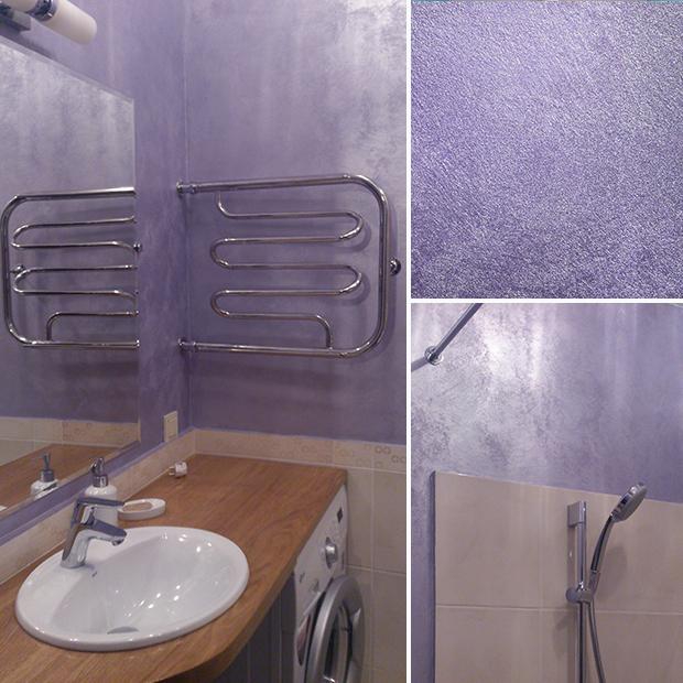 Как использовать в ванной комнате жидкие обои8