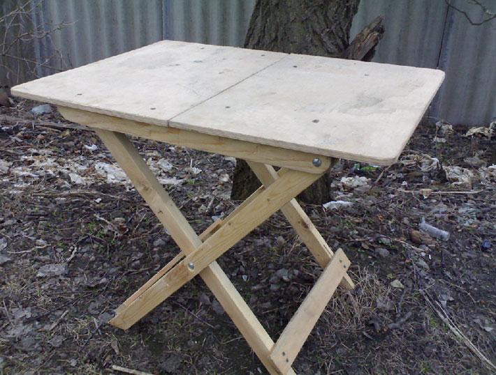 Как изготовить раскладной стол своими руками1