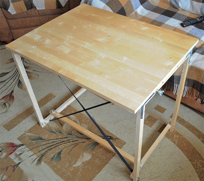 Как изготовить раскладной стол своими руками4