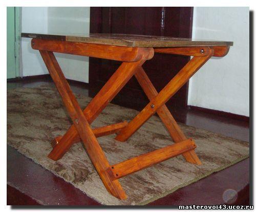 Как изготовить раскладной стол своими руками6