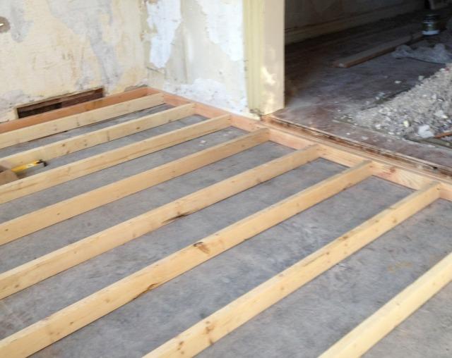 Как к бетонному полу произвести крепление лаг?0