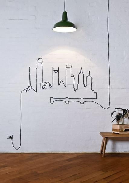 Как красиво и оригинально оформить провода в интерьере0