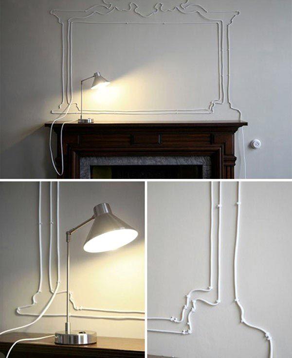 Как красиво и оригинально оформить провода в интерьере1