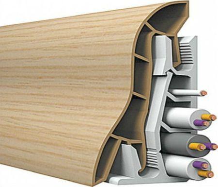 Как крепить пластиковый плинтус к полу: порядок работ3