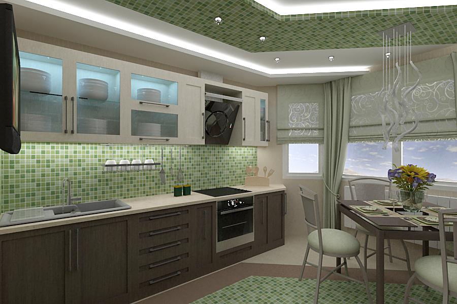 Как лучше оформить рабочую зону на кухне0