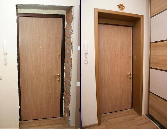 Как можно оформить дверной проем входной двери0