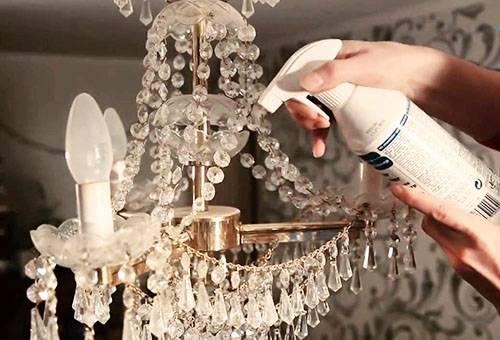 Как мыть хрустальную люстру1