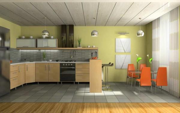 Как оформить потолок на кухне своими руками?3