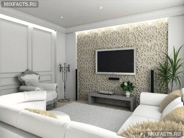 Как оформить стены в гостиной?2