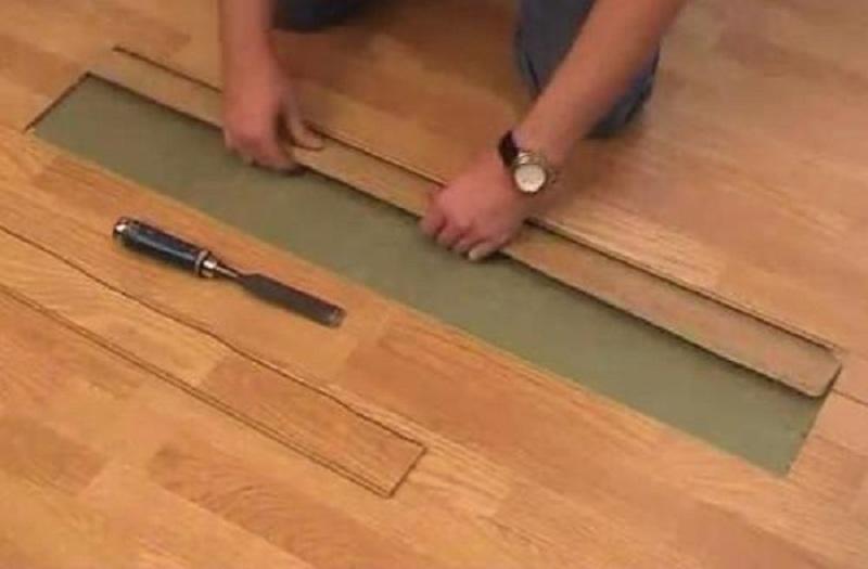 Как отремонтировать ламинат своими руками6