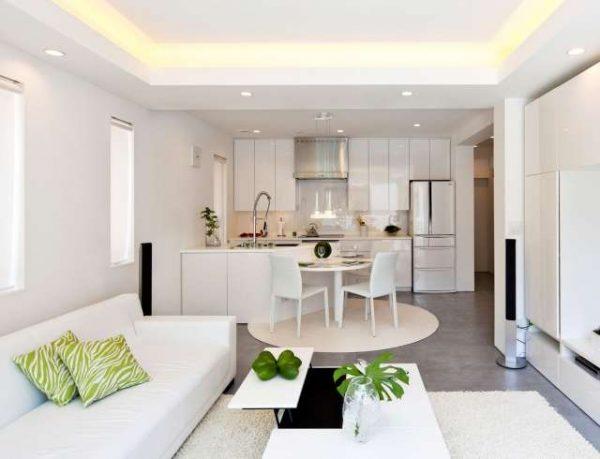 Как подобрать дизайн кухни совмещенной с залом1