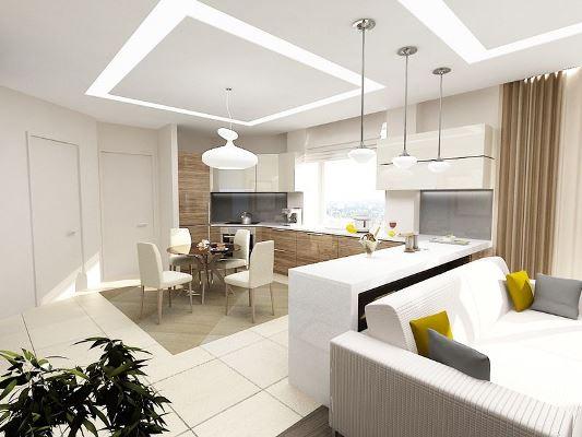 Как подобрать дизайн кухни совмещенной с залом2