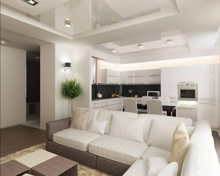 Как подобрать дизайн кухни совмещенной с залом3