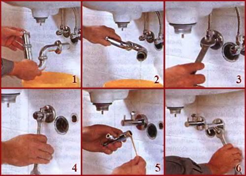 Как поменять смеситель на кухне2