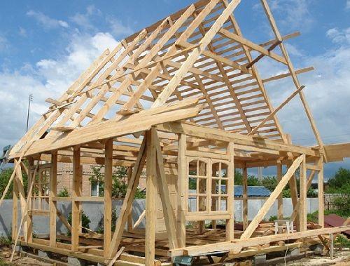 Как построить крышу? крыша в доме из бруса3