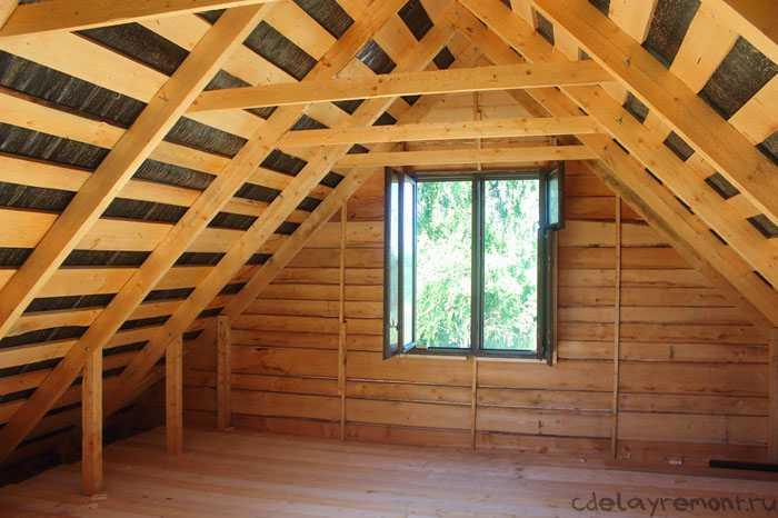 Как построить крышу? крыша в доме из бруса4