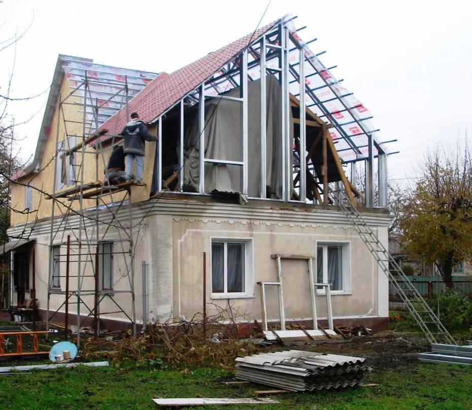 Как построить второй этаж0