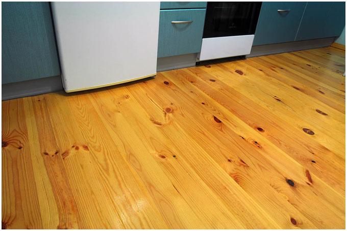 Как произвести окраску деревянных полов?1