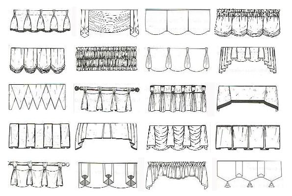 Как сделать буфы на шторах: инструменты, материалы, ход работы0