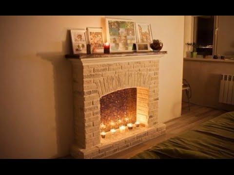 Как сделать камин в квартире из гипсокартона самостоятельно1