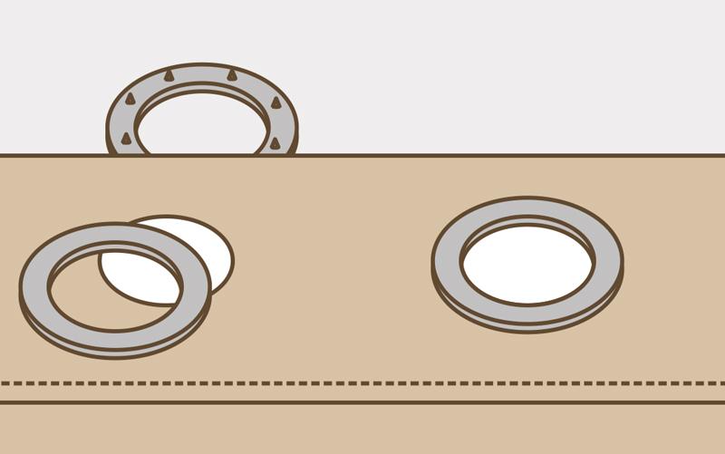 Как сделать кольца на шторы: инструкция, инструменты1