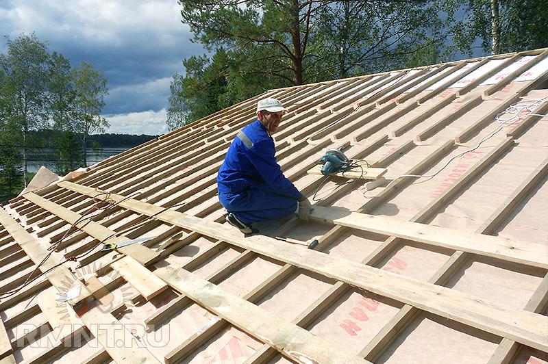 Как сделать крышу из металлочерепицы0