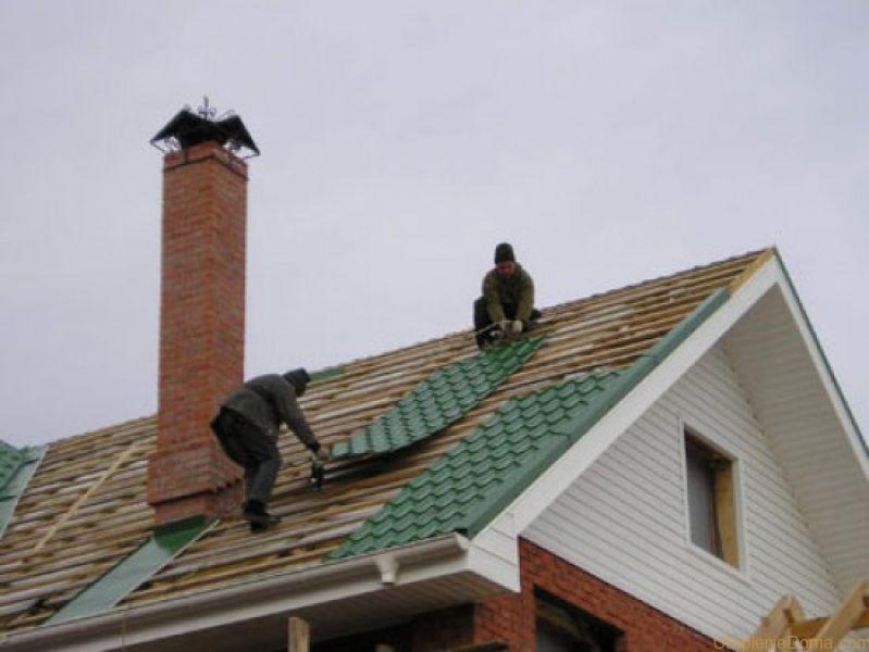 Как сделать крышу из металлочерепицы4